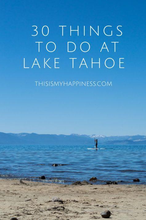 30 Things to Do in Lake Tahoe, California, USA- Truckee, hike trails, Jax on the tracks restaurant, bike rides, disc golf