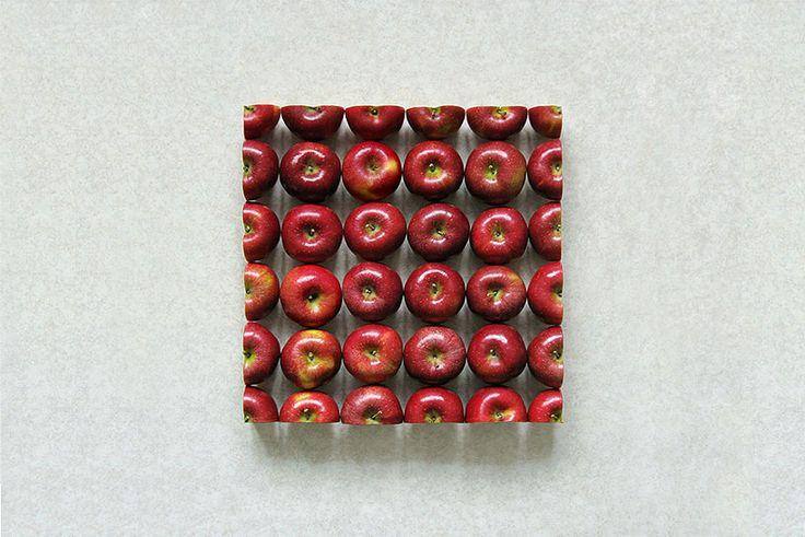 'geometric food art' by sakir gökçebag.