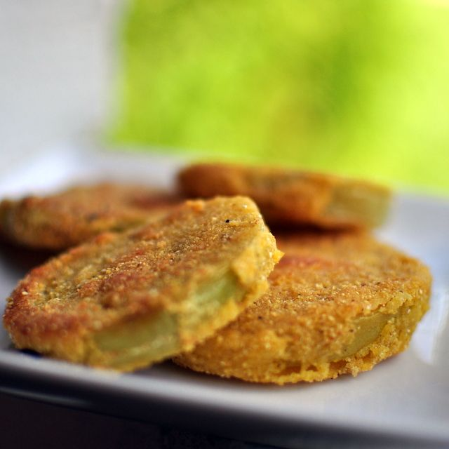 Fried green tomatoes; I don't need a recipe to make this but it's one of my fav foods so had to add it~