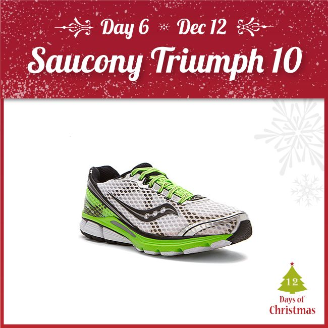 Looking for a well-rounded pair of runners? The Triumph 10 is a phenomenal choice!   Its breathability and supportive build makes it a great trainer, giving you a plush and comfortable ride @ $94.45 today only! (Reg. $169.95)  Try it out in our stores, or grab it here! http://kint.ec/Day6Triumph   USE CODE: XMAS6