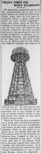 Story about Nikola Tesla's Wardenclyffe Tower. The goal was to develop wireless power transmission, but ultimately, it was never accomplished. #Tesla #history #Wardenclyffe