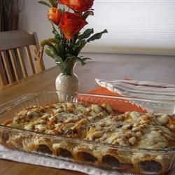 Corn tortillas filled with shredded beef, sour cream, onion, green chilies, then covered with Monterey Jack cheese and baked. This recipe freezes well.: Food Recipes, Enchiladas With Allrecipes, Mexican Food, Enchiladas Recipe, Dinner Ideas, Main Dishes, Shredded Beef Enchiladas