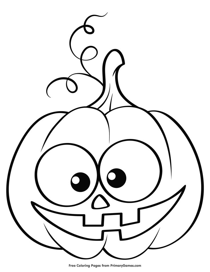 Cute Jack-O-Lantern Coloring Page • FREE Printable eBook ...