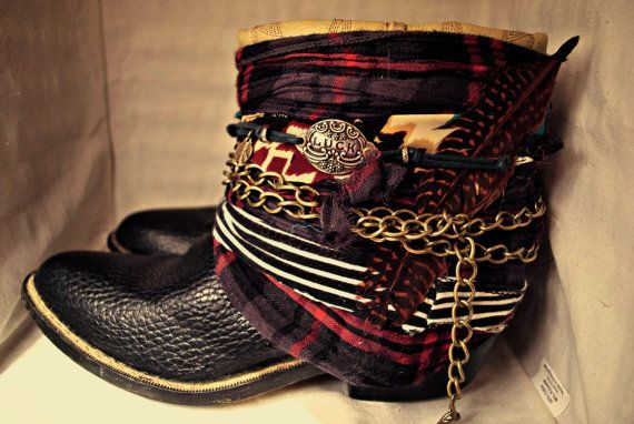 Upcycled vintage cowboy boots- interesting idea- I must explore this further!