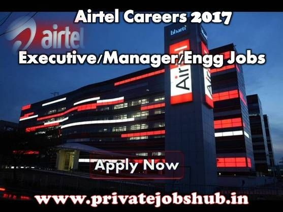 Bumper Jobs Openings in Airtel: Just Grab the Opportunity by Applying against Airtel Recruitment!!! Through Airtel Jobs, organization is going to recruit qualified and result oriented candidates to fill vacant positions of Asst. Manager, Sr. Executive, Field Engineer and others.   http://www.privatejobshub.in/2012/07/bharti-airtel-recruitment-2012-2013.html