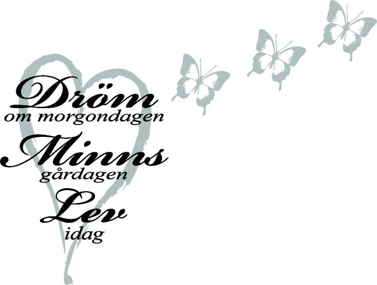 Väggdekor   Dröm ... Minns ... Lev ...    Fjärilar