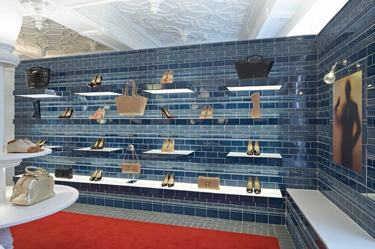 The new Christian Louboutin boutique at Harrods, designed by Lee Broom.