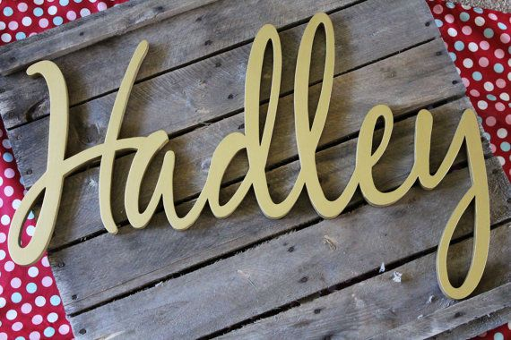 Wooden Name Sign Wooden Names Letters for by CucumberAppleStudio