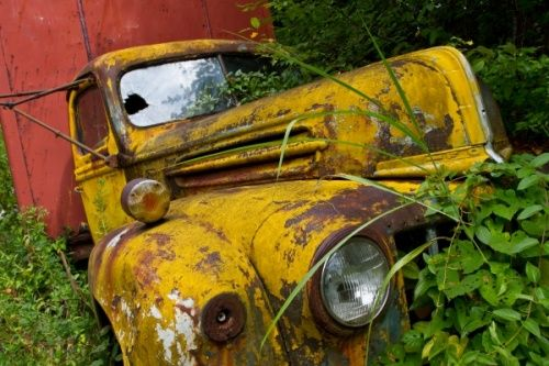 Rusty Old Yellow Ford Truck