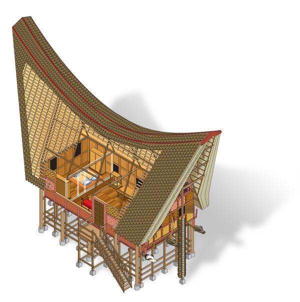Tongkonan Toraja by Septa Inigopatria, via Behance