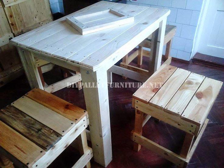 Muebles para la cocina hechos con madera de palets for Muebles hechos con paletas de madera