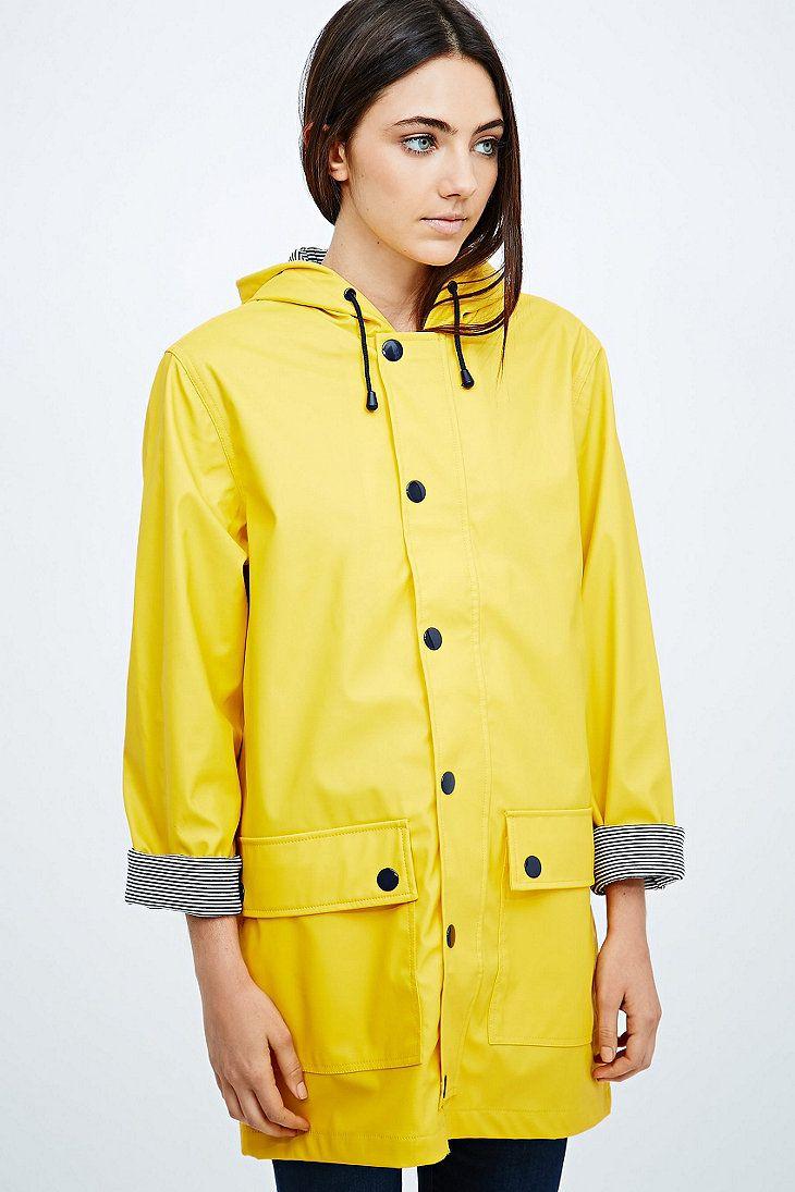 petit bateau longline raincoat in yellow regenjacke und. Black Bedroom Furniture Sets. Home Design Ideas