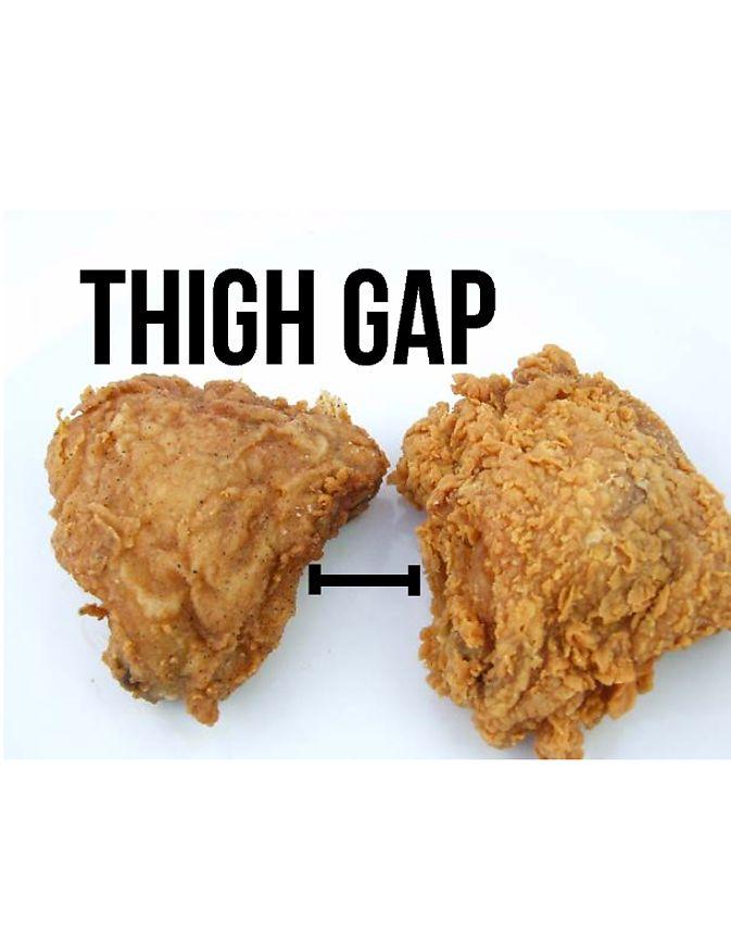 My kind of thigh gap