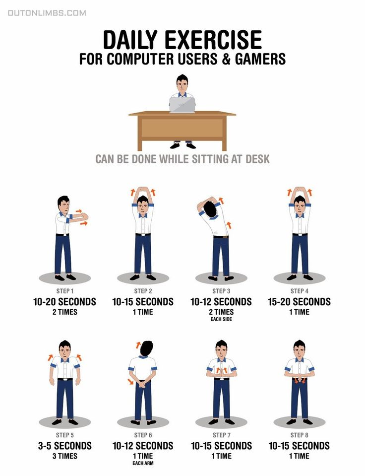 41 Best Images About Office amp Desk Exercises On Pinterest