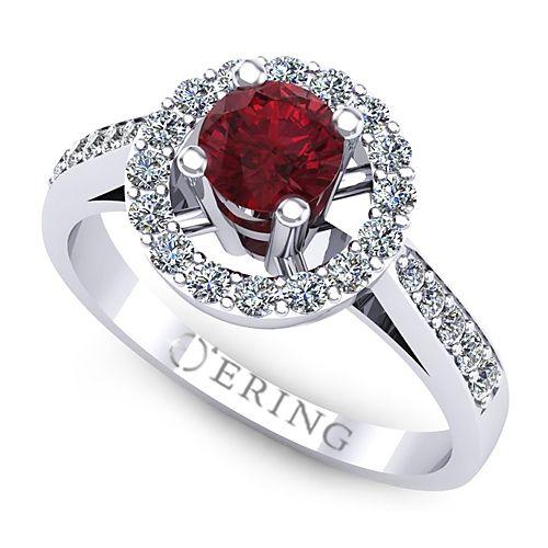 Inel logodna L77ARB inel cu diamant si rubin