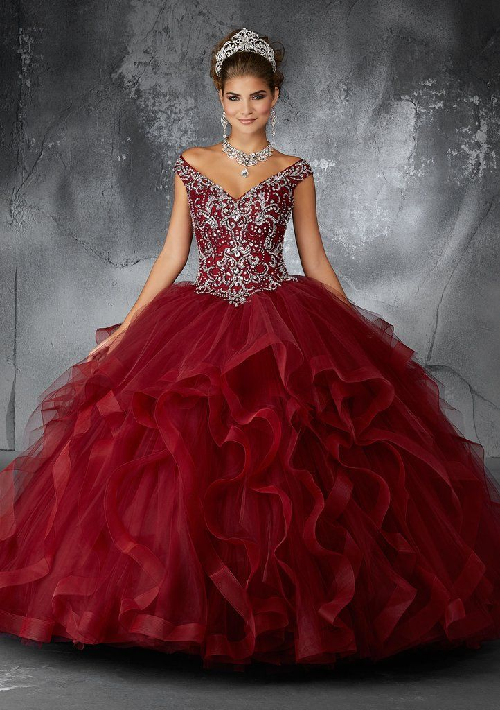 e81f9543bca Flounced V-Neck Quinceanera Dress by Mori Lee Vizcaya 89131-Mori Lee Vizcaya -ABC Fashion
