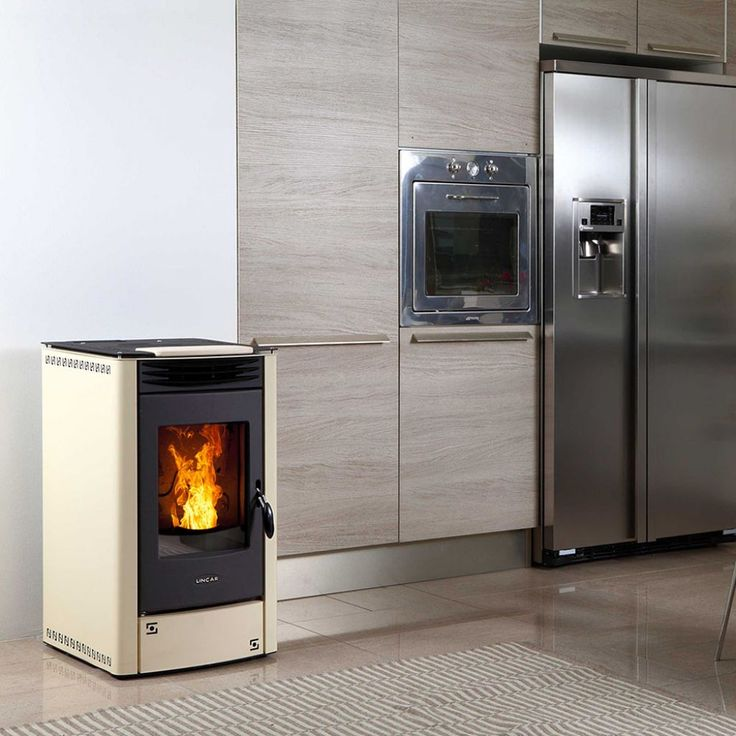Contemporary Kitchen With Pellet Stove Using A Pellet Stove In Your Kitchen Check more at http://www.wearefound.com/using-a-pellet-stove-in-your-kitchen/