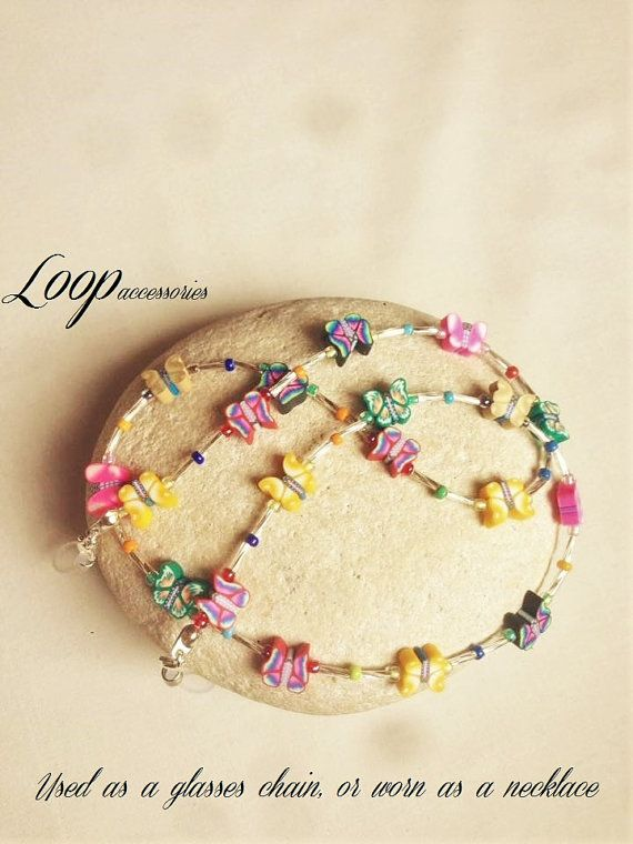 BUTTERFLY  Beaded Colourful Necklace by LoopAccessoriesShop