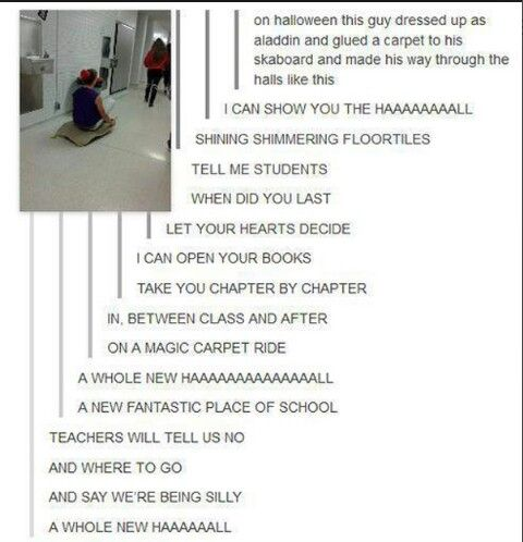 Cool Tumblr. Excellent Halloween costume idea, and brilliant job to everyone on the song.