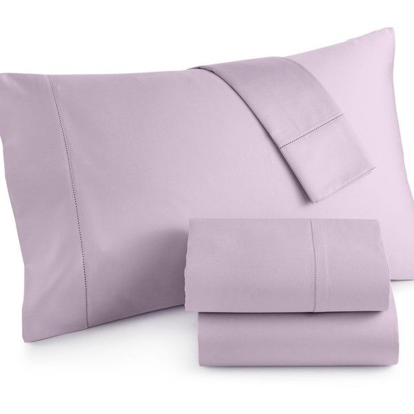 Charter Club Damask Solid 500 Thread Count Pima Cotton Queen Sheet... ($170) ❤ liked on Polyvore featuring home, bed & bath, bedding, bed sheets, lilac, damask sheet set, charter club sheet sets, queen bedding, lilac bedding and damask pattern bedding