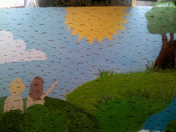 Adam n Eve ceiling tile for Sunday school classroom