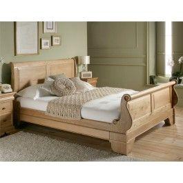 Sleep Sanctuary // Toulouse Oak Wooden Sleigh Bed - $699.00