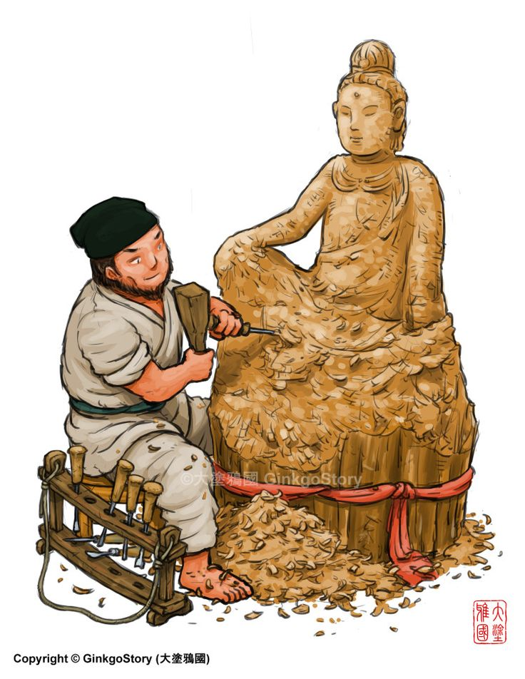 Making of a Buddha Statue during Song Dynasty, Ginkgo Story on ArtStation at https://www.artstation.com/artwork/L0www