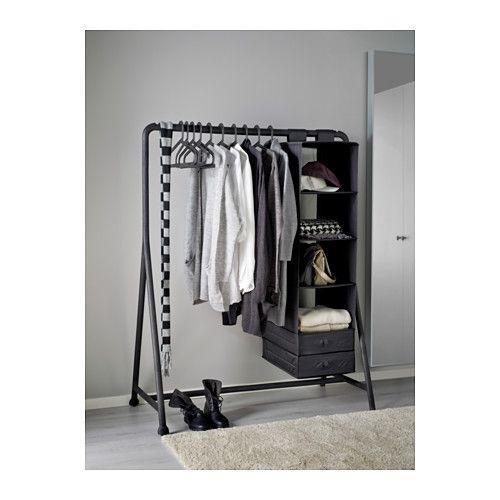 TURBO Clothes rack, indoor/outdoor, black