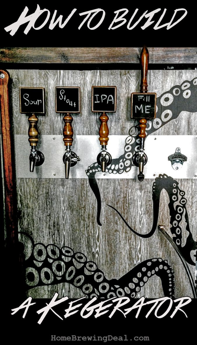 A step by step guide on how to build a Kegerator for your home brewed beer! #kegerator #guide