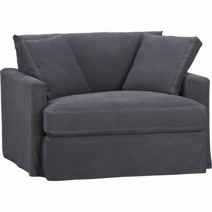 lounge slipcovered chair and a half from crate and barrel