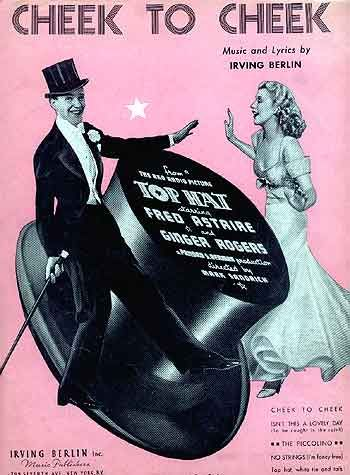 love this rare pink poster (fred & ginger, 'top hat') <3