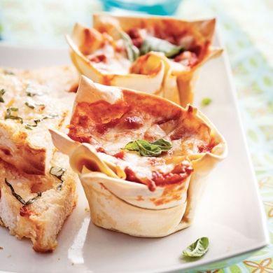 Coupelles de lasagne - Minis - Soupers de semaine - Recettes 5-15 - Recettes express 5/15 - Pratico Pratique