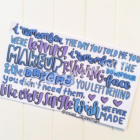 My Amnesia Girl Quotes: Best 25+ Lyric Art Ideas On Pinterest