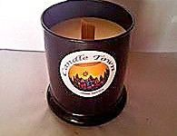 SOY WOODSTOCK CANDLE - This soy candle burns slowly and evenly for a beautiful light and comes in a decorative glass jar available with essential oils with a choice of 36 scents and features a timber wick. The timber wick crackles like a fire when lit. Burn time = 50+ hours.