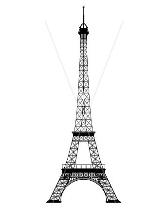 Gratifying image with eiffel tower template printable