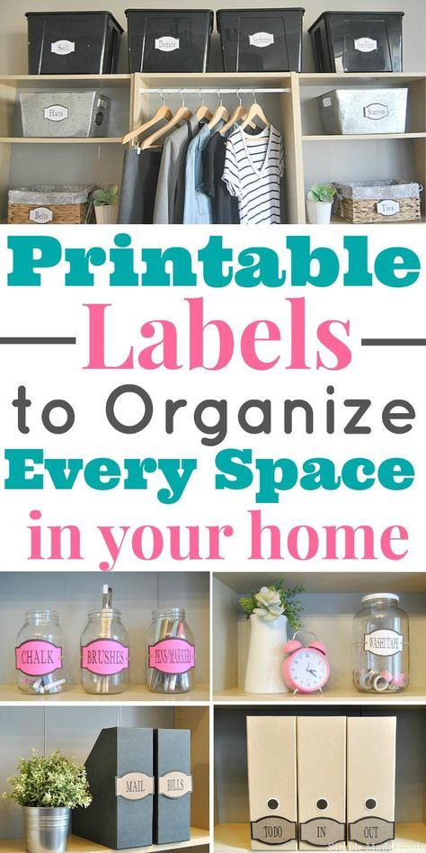 Your home is not completely organized until you add labels! Download these amazing printable labels to organize every space in your home! Get organized, organized home, organization labels, printable labels, organize my home, how to organize my home, pant