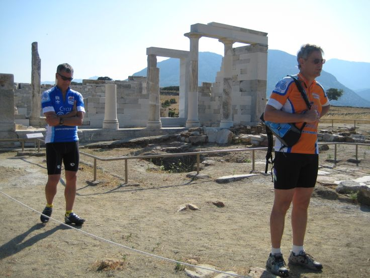 Temple of Dimitra.  Brady in orange, our cycling archaeologist offered some insights on this newly renovated archaeology site.