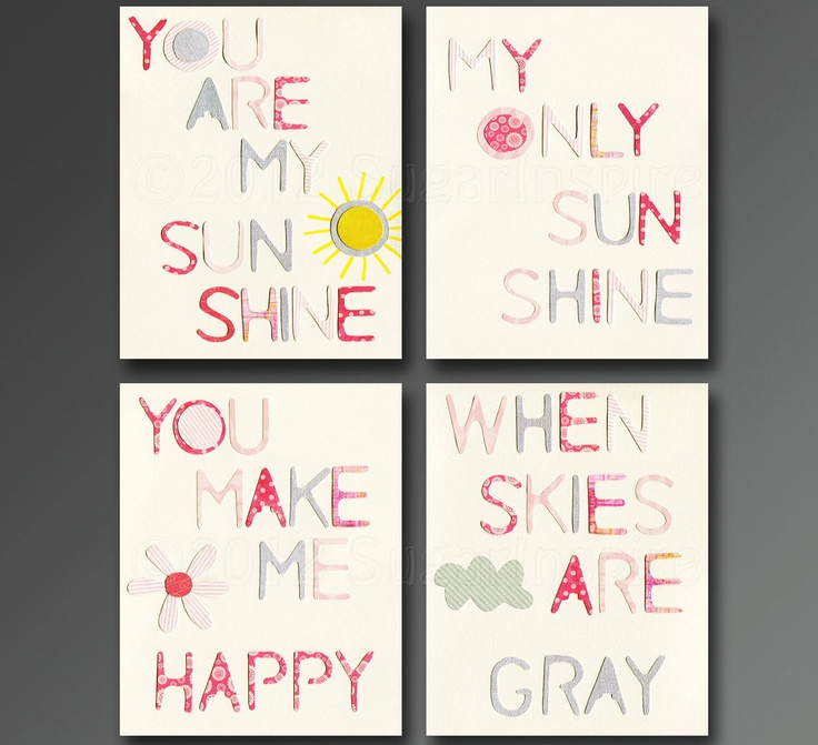 My Sunshine Baby Wall Art You are my sunshine