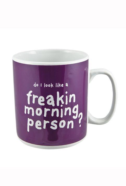 Giant 'Morning Person' Mug 900ml