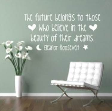 The beauty of dreams wall sticker. www.theprettycollection.co.za