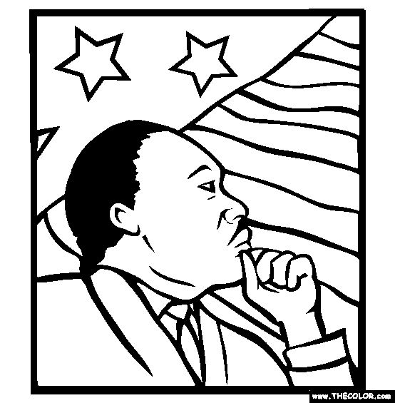 martin luther king color sheet   Martin Luther King Online Coloring Pages