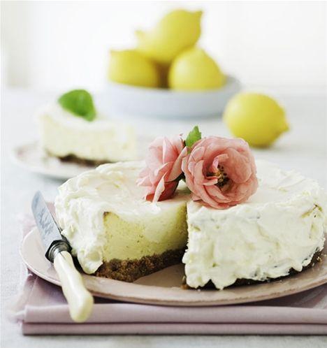 Citroncheesecake med hvid chokolade
