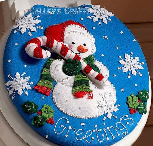 Bucilla-Snowman-Felt-Christmas-Bath-Ensemble-Kit-86155-Greetings-Frosty