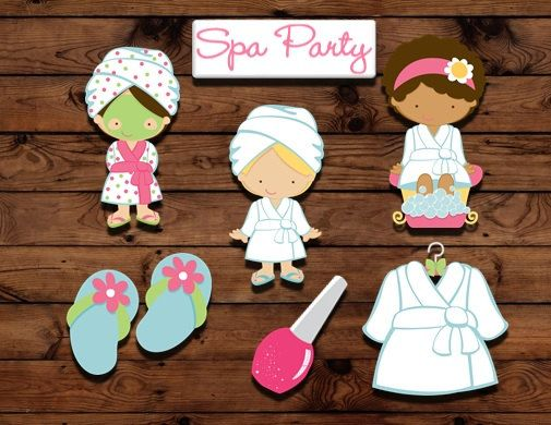 16 spa cupcake toppers, spa party decor, slumber party toppers, girls night party, cake decorations on Etsy, $8.00
