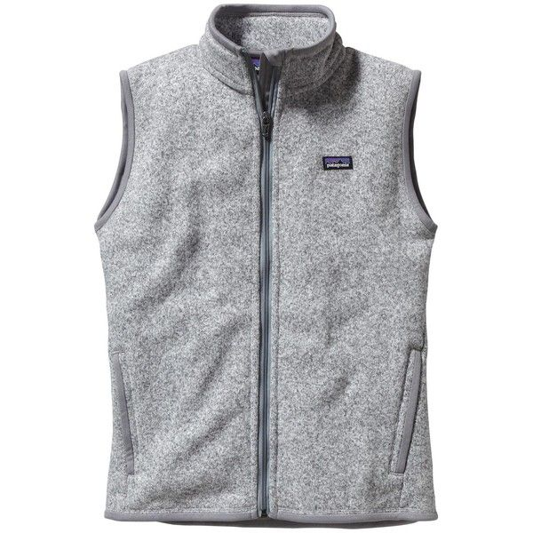 Patagonia Women's Better Sweater® Fleece Vest ($99) ❤ liked on Polyvore featuring outerwear, vests, jackets, birch white, vest, zip vest, patagonia vest, mens waistcoat and fleece vest