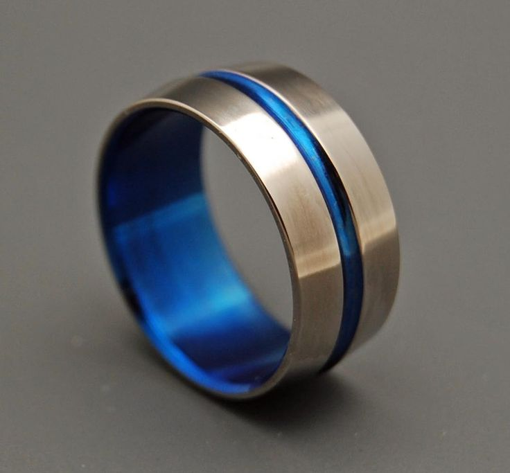 Minter + Richter   Titanium Rings - Blue Signature Ring   Titanium Rings   Minter + Richter