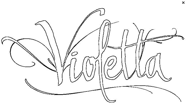 Disegno da colorare Violetta
