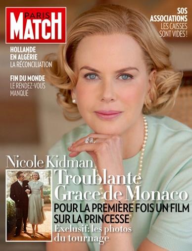 Paris Match n° 3319, du 27 décembre 2012, édition iPad, avec Nicole Kidman incarnant Grace de Monaco en couverture.