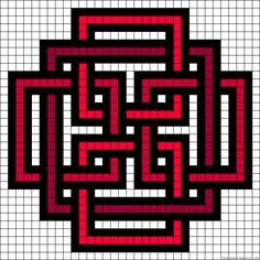Celtic design perler bead pattern