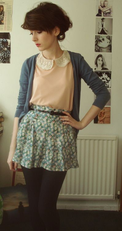 pretty sure i love everything about this outfit. except the skirt length. would look better as a midi.
